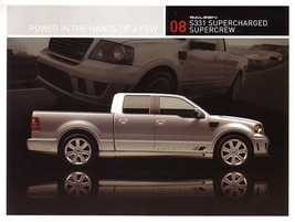 2008 Saleen S331 SC SUPERCREW sales brochure card sheet  F150 08 - $9.00