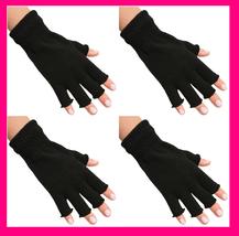 Set/ 4 Love My Hands Mani MANICURE GLOVES Fingerless Light Lamp Protecti... - $6.91