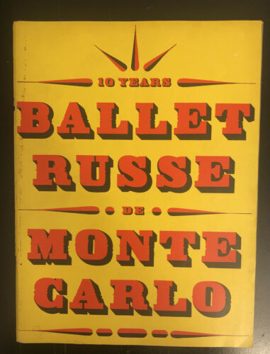 Primary image for 1948-1949 BALLET RUSSE DE MONTE CARLO PROGRAM - GREAT PHOTOS - J 2617