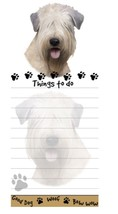 WHEATEN TERRIER DOG DIECUT LIST PAD NOTES NOTEPAD Magnetic Magnet Refrig... - $7.99