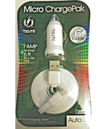 Tzumi Micro Charge Pak 1 AMP Car Charger with 6ft. Micro USB Flat Cable White - $18.99