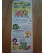Vintage Kool-Aid Treats Print Magazine Advertisement 1945 - $6.99