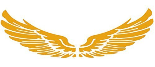 Set of 2 Wings Family Car Stickers Unique Design Car Sticker Yellow