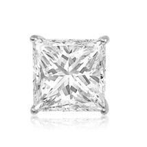 Sterling Silver 925 Solid Square Princess Cut Stud Gift Earrings - $43.53
