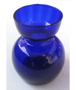 Cobalt Blue Collectible Handblown Blubous Glass Table Display Made In Italy - $69.00