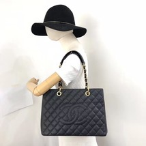 BRAND NEW AUTH CHANEL QUILTED CAVIAR GST GRAND SHOPPING TOTE BAG GHW RECEIPT image 7