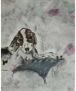 Beagle Dog Art Monotype Solomon - $30.00