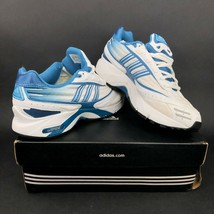 adidas Falcon 2002 W Womens 8.5 Running Shoes Blue White Gradient Vintag... - £49.16 GBP