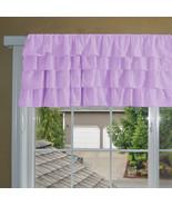 Chiffon LILAC Ruffle Layered Window Valance any size - $29.99+