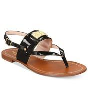 Kate Spade Women Slingback Thong Sandals Cassandra Size US 5M Black Patent - $32.93