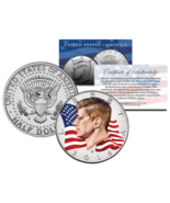 Colorized * FLOWING FLAG * 2016 JFK John F Kennedy Half Dollar U.S. Coin... - €8,03 EUR