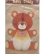 Vintage 60s 70s Teddy Bear Diaper Honeycomb Paper Table Decoration Baby ... - $7.00