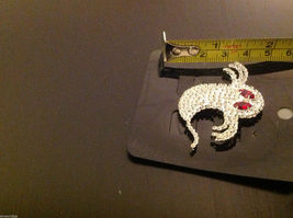 Beautiful sparkly new rhinestone pin with ghost and red eye crystals image 5