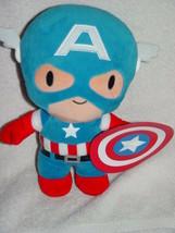 """Marvel Capital American Stuff Plush Doll w/ Shield 9 1/2"""" Tall - $14.00"""