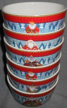 Set (6) Certified International HOLIDAY TRADITIONS Soup/Cereal/Dessert B... - $31.67