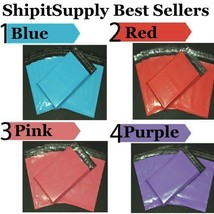 1-1000 10x13 ( Blue Pink Purple or Red ) Color Poly Mailers Fast Shipping - $0.99+