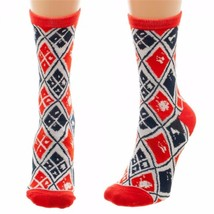 Suicide Squad Harley Quinn Diamond Pattern Juniors Crew Cut Socks - $9.95