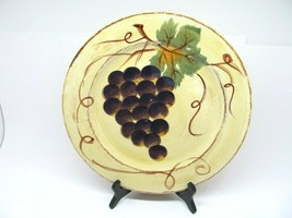 """Tabletops Unlimited Vino Hand Painted 12 1/2"""" Dinner Plates Set Of 3 Plates - $47.53"""