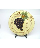 "Tabletops Unlimited Vino Hand Painted 12 1/2"" Dinner Plates Set Of 3 Plates - $47.53"