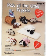 Pick of the Litter Puppies Vintage Crochet Pattern Booklet  Milcraft 1985 - $44.95