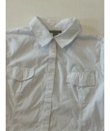 Womens Top Size L Lot of 2 TOMMY HILFIGER Button Front Shirts Fitted Str... - $15.79