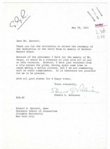 Edward G. Robinson Signed Letter 1961 / Autographed Actor - $77.59