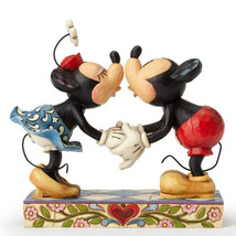 "6.25"" Smooch for My Sweetie Mickey & Minnie Mouse - Jim Shore Disney Tra... - $69.39"