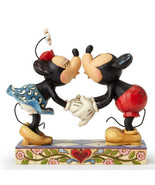 """6.25"""" Smooch for My Sweetie Mickey & Minnie Mouse - Jim Shore Disney Tra... - $69.39"""