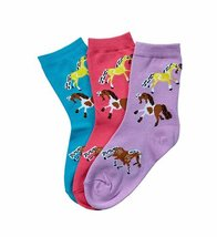 Pony Socks Kids 3 pack Youth 5 to 7 image 1