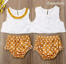 Baby Girl Clothes Summer Suit  White Tassel Shirt Wave Point Lace Shorts... - $14.60