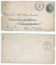 1896 Arlington Heights Mass - Kingsport Nova Scotia Forwarded to Digby N... - $7.99