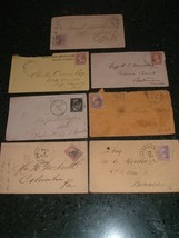 7 Pre Civil war Postal Cover lot : Great stamps & cancels , Postal History - $35.00