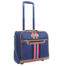 Tommy Hilfiger Freeport Rolling Carry-On Underseat Luggage Tote, Blue - $108.90