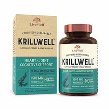 KrillWell Heart, Joint, and Cognitive Support | Certified Sustainable, Clinicall