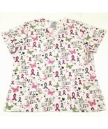 Hope Care Heal Love Womens Scrub Top Shirt SB Scrubs Size Large Short S... - $17.81