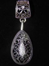 NWT Women's Silver Interchangable Filigree Tear... - $13.67