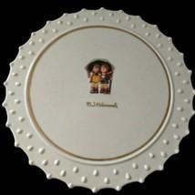 Hummel Goebel Cake Plate Danbury Mint Stormy Weather White Porcelain Des... - $29.99