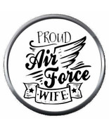 Proud Wife USAF Air Force Support US Military 18MM - 20MM Snap Jewelry C... - $5.95