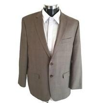 Lauren Ralph Lauren Mens Two Button Suit Jacket Beige Glen Check Pocket ... - $46.52