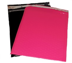 50 8.5x12 Poly Bubble Mailer Envelope Shipping Bags 25 Pink 25 Black Com... - $20.99