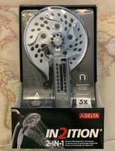 75510D Delta In2ition Chrome 5-Spray H2OKinetic Dual Shower Head & Hands... - $134.50