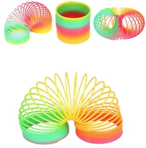 Colorful Rainbow Magic Slinky Children Classic Toy Magic Spring (Lot of 12) - $12.19