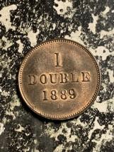 1889-H Guernsey 1 Double Lot#Q5753 High Grade! Beautiful!  - $14.03