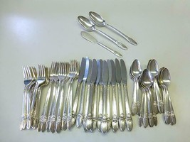 62 Piece FIRST LOVE 1847 Rogers Bros Silverplate Flatware Service for 11+ - $175.75