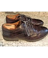 BORN Oxford Brown Leather Wingtip Casual Shoe Men's US 12 - $36.09