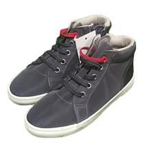 Cat & Jack Grigio Ford Nylon Tessuto Cerniera Sneaker Bambini USA 9 Nwt