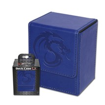 24x BCW GAMING DECK CASE BOX - LX - BLUE - Leatherette with Magnetic Clo... - $237.50