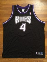 Authentic 2002 Reebok Sacramento Kings Chris Webber Away Road Black Jers... - $749.99