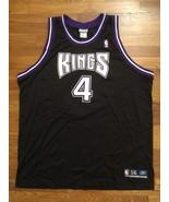 Authentic 2002 Reebok Sacramento Kings Chris Webber Away Road Black Jers... - $749.99