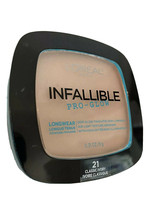 L'Oreal Infallible Pro Glow Longwear Pressed Powder 21 Classic Ivory New - $12.86